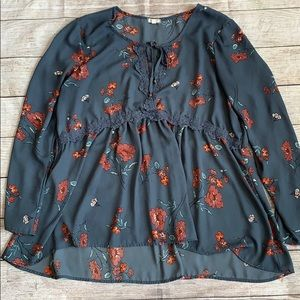 Eyeshadow Floral Blouse